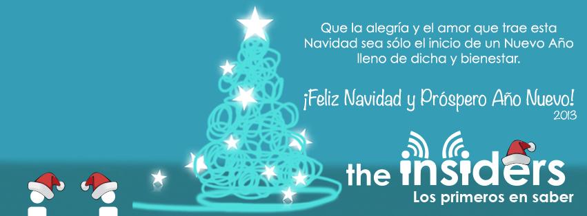 Inicio Feliz Navidad.The Insiders Llego El 24 Y En Insiders Les Deseamos Una